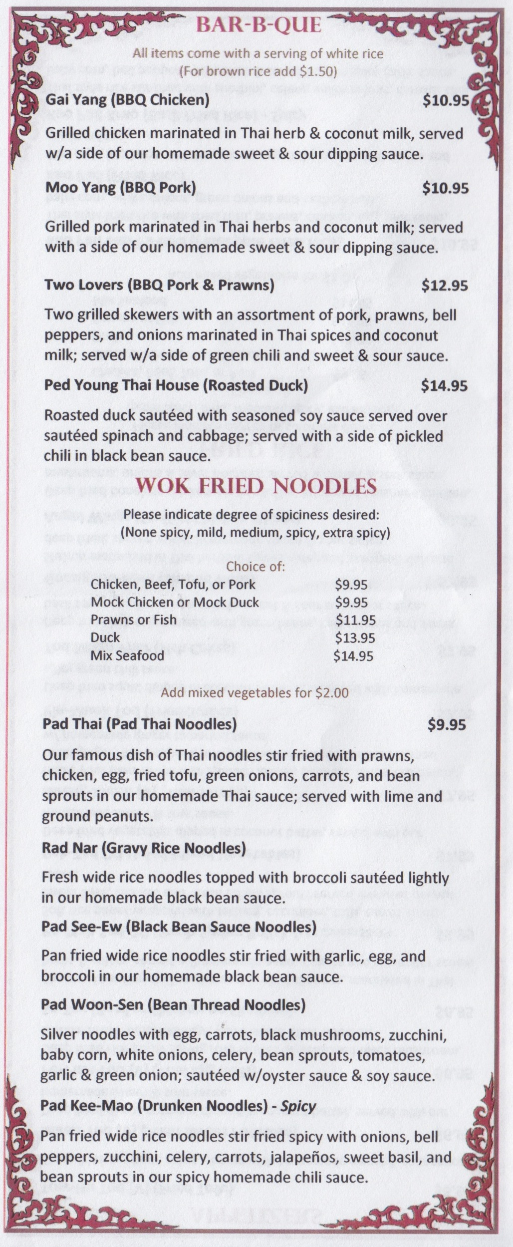 Thai House BBQ & Wok Fried Noodles