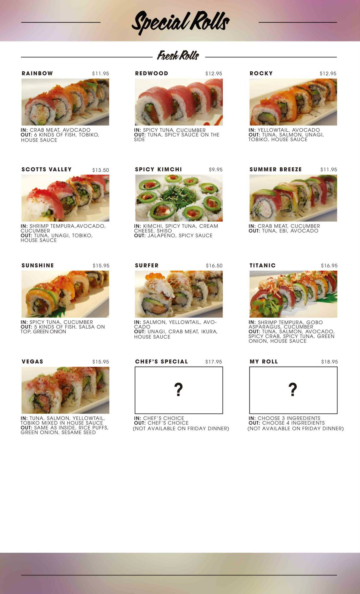 Rumble Fish - Special Rolls